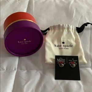 New In Box - Kate Spade Minnie Mouse Earrings